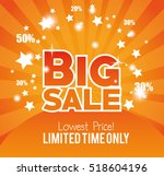big sale limted time only gold... | Shutterstock .eps vector #518604196