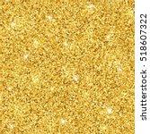 gold glitter seamless pattern.... | Shutterstock .eps vector #518607322