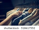 clothes shop costume dress... | Shutterstock . vector #518617552