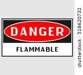 "plate  ""danger. flammable... 