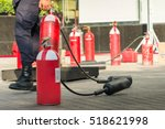 close up red carbon dioxide... | Shutterstock . vector #518621998
