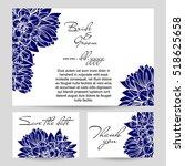 vintage delicate invitation... | Shutterstock .eps vector #518625658