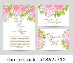 vintage delicate invitation... | Shutterstock .eps vector #518625712