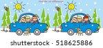 winter trip  find ten... | Shutterstock .eps vector #518625886