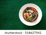top view papaya salad  som tum  ... | Shutterstock . vector #518627542
