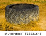 Old Tire Of Big Tractor Big...