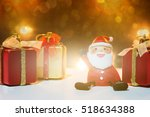 santa claus dolls and christmas ... | Shutterstock . vector #518634388