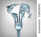 global food concept and world... | Shutterstock . vector #518638342