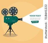 professional video camera...   Shutterstock . vector #518641222