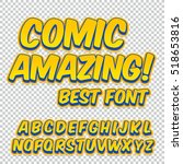 creative high detail comic font.... | Shutterstock .eps vector #518653816