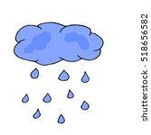 cloud vector isolated... | Shutterstock .eps vector #518656582