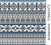 ethnic seamless pattern with... | Shutterstock .eps vector #518661472