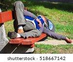 Homeless Man Is Sleeping On A...