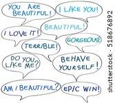 speech bubbles with original... | Shutterstock . vector #518676892