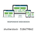 responsive web design concept.... | Shutterstock . vector #518679862