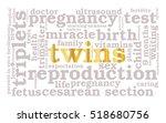 twins. word cloud  golden font  ...   Shutterstock .eps vector #518680756