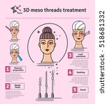 vector illustrated set with 3d... | Shutterstock .eps vector #518681332