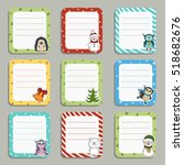 collection of cute frames.... | Shutterstock .eps vector #518682676