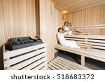Sauna Heater In A Cozy Sauna...