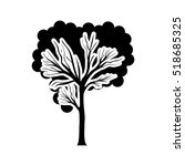 black and white tree trunk with ...   Shutterstock .eps vector #518685325