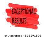 exceptional results vector card | Shutterstock .eps vector #518691508