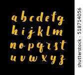 hand drawn alphabet. brush... | Shutterstock . vector #518714056