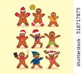 christmas gingerbread cookie | Shutterstock .eps vector #518717875