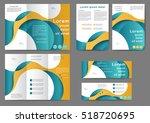 set of color brochure template... | Shutterstock .eps vector #518720695