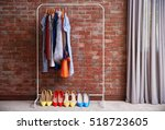 hangers with different female... | Shutterstock . vector #518723605