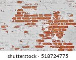 Old Vintage Red Brick Wall Wit...