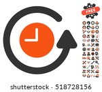 restore clock icon with bonus... | Shutterstock .eps vector #518728156