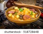 jota  traditional slovenian food   Shutterstock . vector #518728648