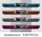 scoreboard sport template for... | Shutterstock .eps vector #518729116