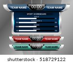 scoreboard broadcast graphic...   Shutterstock .eps vector #518729122