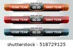 scoreboard sport template for... | Shutterstock .eps vector #518729125