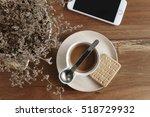 top view of working space...   Shutterstock . vector #518729932