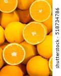 Background Ripe Juicy Oranges...