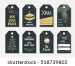 set of hand draw christmas and... | Shutterstock .eps vector #518739802