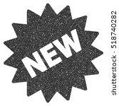new sticker grainy textured... | Shutterstock . vector #518740282