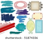 grunge banners and brushes | Shutterstock .eps vector #51874336