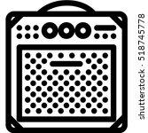 combo amp icon   Shutterstock .eps vector #518745778