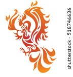 phoenix vector illustration.... | Shutterstock .eps vector #518746636