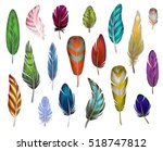 Colorful Detailed Bird Feather...
