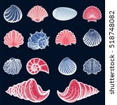 Colorful Sea Shells Set....