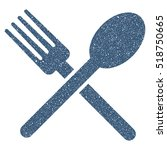 fork and spoon grainy textured... | Shutterstock . vector #518750665