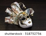 Mask Of Venice On Dark...
