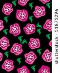 floral design seamless vector... | Shutterstock .eps vector #51875296