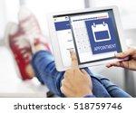 appointment agenda reminder... | Shutterstock . vector #518759746