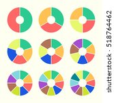 set of colored pie charts.... | Shutterstock .eps vector #518764462