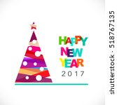 chrismas and happy new year... | Shutterstock .eps vector #518767135